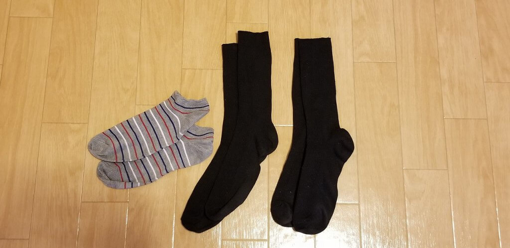 靴下 ミニマリスト